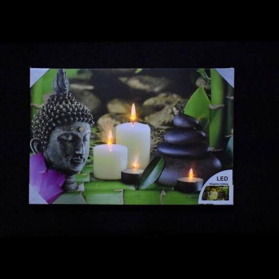 Világító falikép Buddha/Zen