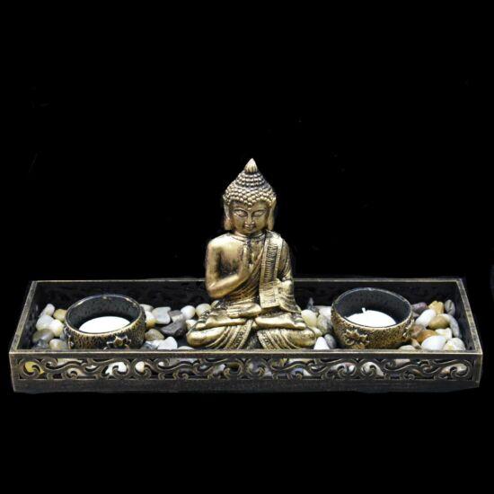 Mécsestartó szett Buddha ülő