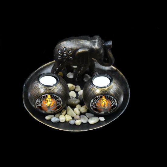 Mécsestartó szett LED-es, elefánttal