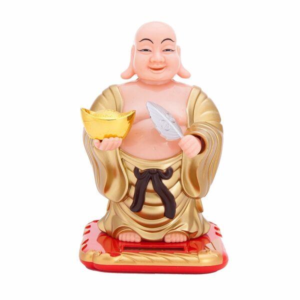 Integető Buddha napelemes