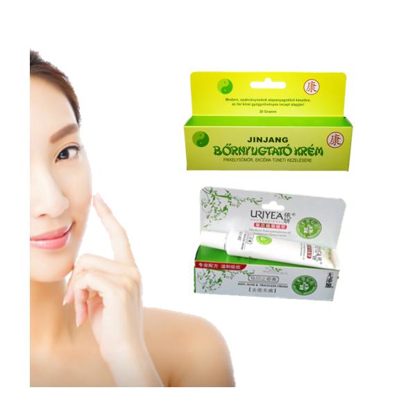 Jinjang bőrnyugtató krém és Uriyea akne rosacea krém csomag