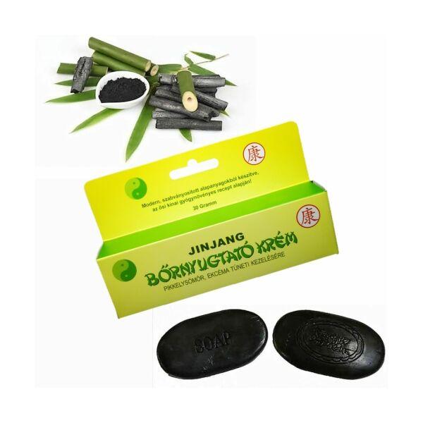Jinjang bőrnyugtató krém /  bambusz szappan csomag