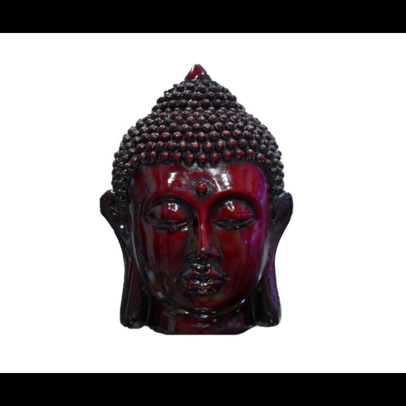 Buddha fej mahagóni