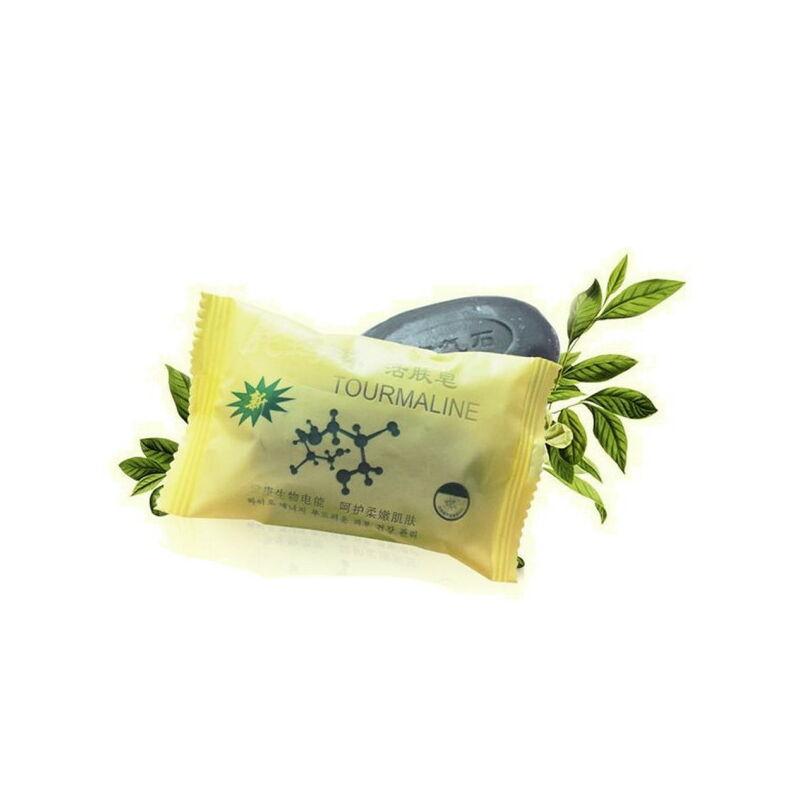 Turmalinos szappan zöld teával és bambusz faszénnel
